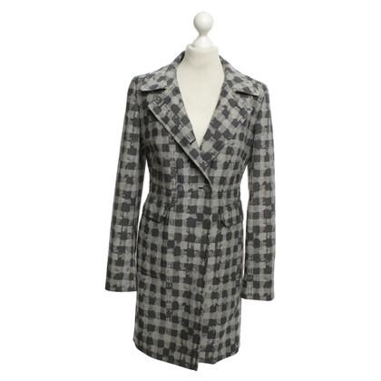 Escada Coat with plaid pattern