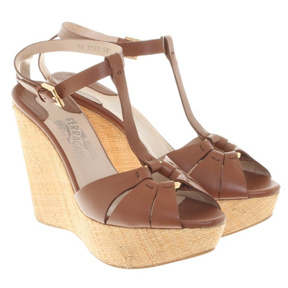 Salvatore Ferragamo Wedges in Braun