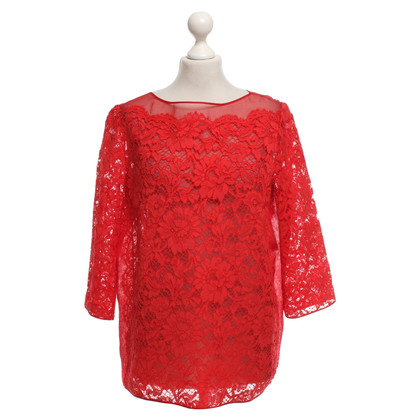 Valentino Organza blouse with lace