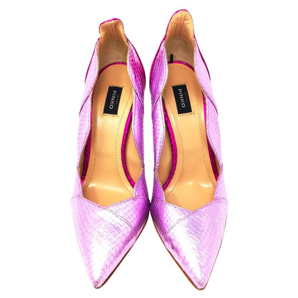 Pinko Pumps in Pythonleder-Optik