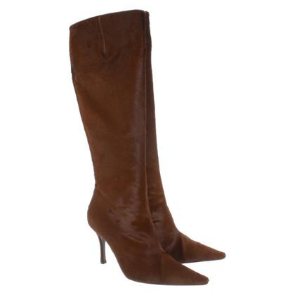 René Caovilla Pony fur boots