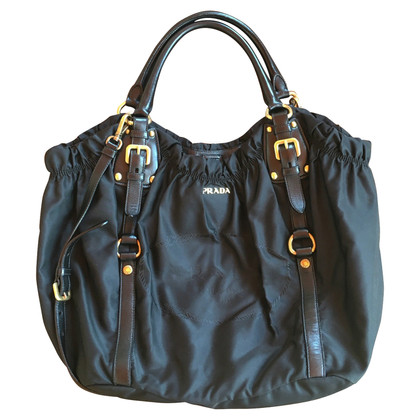 Prada Nylon / Leder Shopper