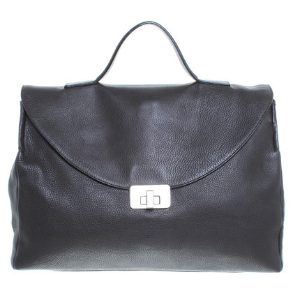 Jil Sander Dark brown leather bag
