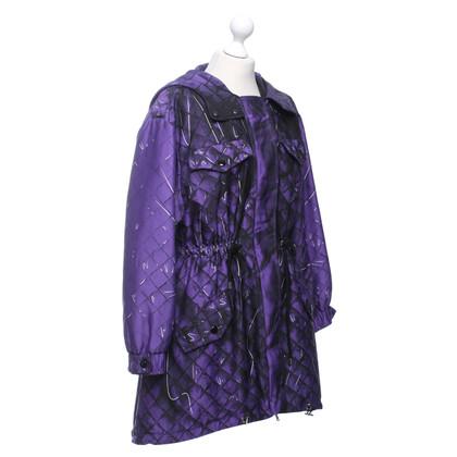 Moschino Cappotto in viola / nero / bianco
