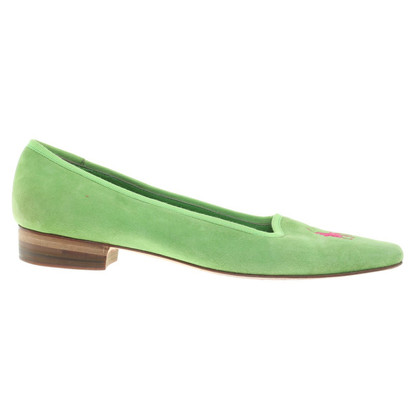 Polo Ralph Lauren Verde Suede Loafer
