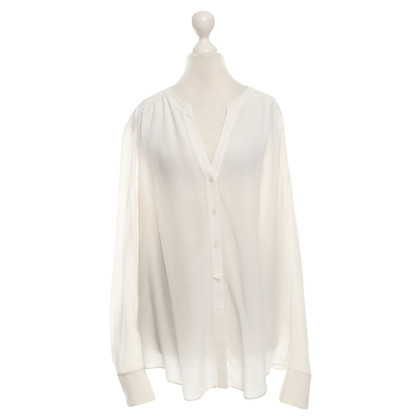 Hugo Boss Zijden blouse in het wit