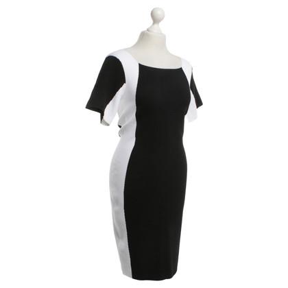 Escada Kleid in Schwarz/Weiß