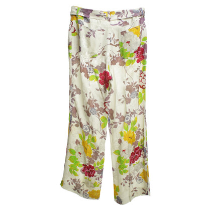 Etro pantaloni Marlene con motivo floreale