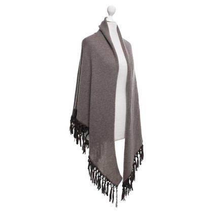 Other Designer Scarf with leather fringes