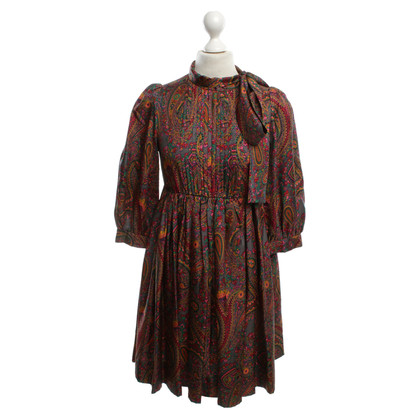 DKNY Silk dress with paisley print