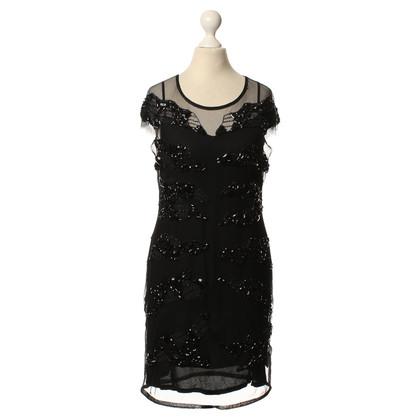 Just Cavalli Zwarte jurk met versieringen