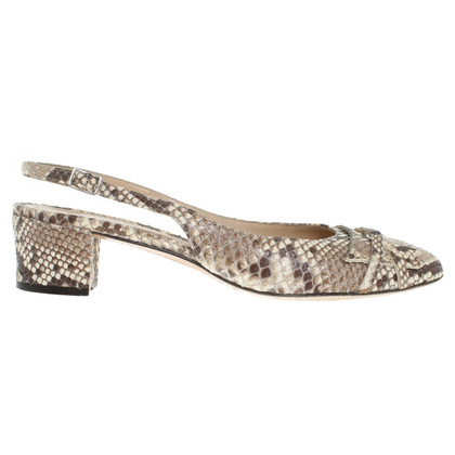 Unützer pumps made of snakeskin