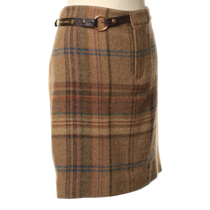 Ralph Lauren Checkered skirt wool