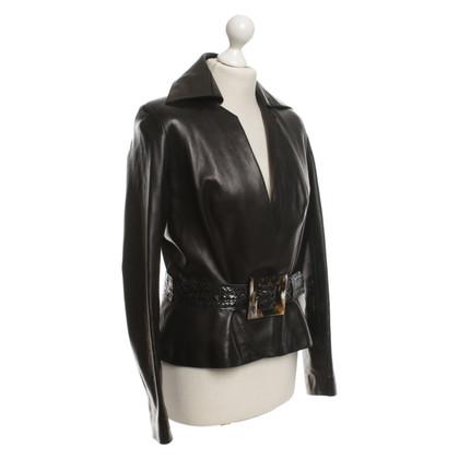 Jitrois Veste en cuir noir