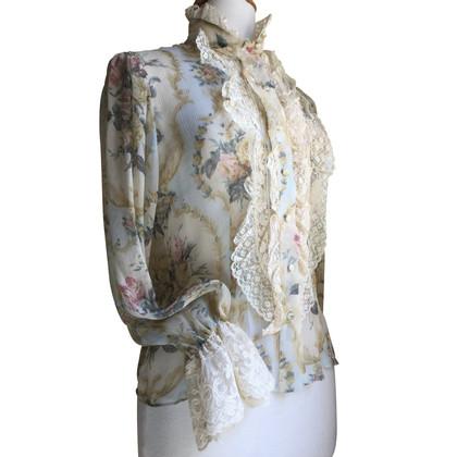 Blumarine zijden blouse