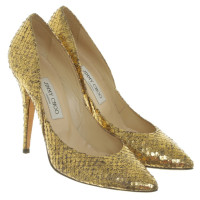 Jimmy Choo Goldfarbene Pumps