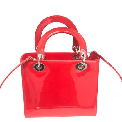 """Christian Dior """"Lady Dior"""" in Rot"""