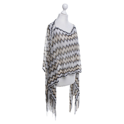 Missoni Knitted poncho with pattern