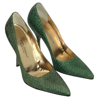 Dolce & Gabbana pumps made of reptile leather