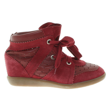 Isabel Marant Sneaker wedges in red