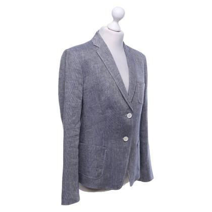 Hugo Boss Blazer in blauw / wit
