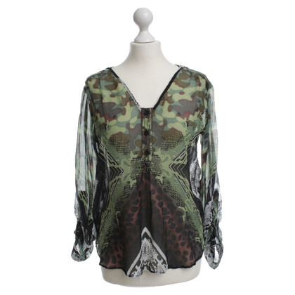 Hale Bob Silk blouse with a colorful print