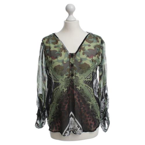 e358893af12d3f Hale Bob Silk blouse with a colorful print - Second Hand Hale Bob ...