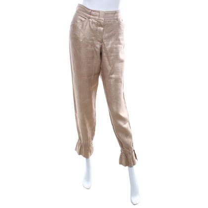 Chanel Pantaloni color oro