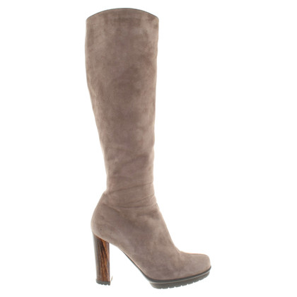 Gianvito Rossi Suede boots in taupe