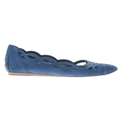 Tod's Wild leather ballerinas in blue