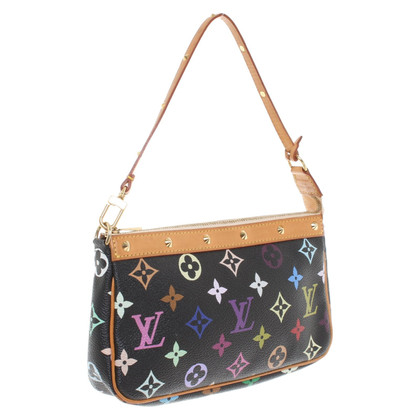 "Louis Vuitton ""Pochette Accessories Monogram Multicolore Canvas Noir"""