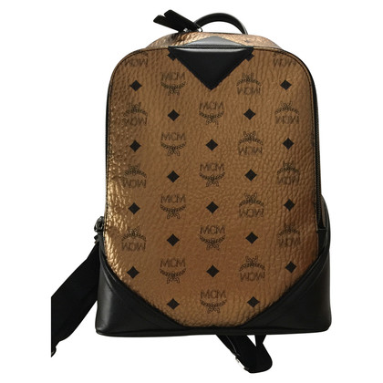 "MCM ""Duke Visetos backpack gold"""