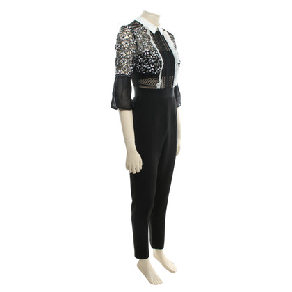 Self-Portrait Jumpsuit with lace details