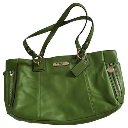 Coach Hand bag in moss green