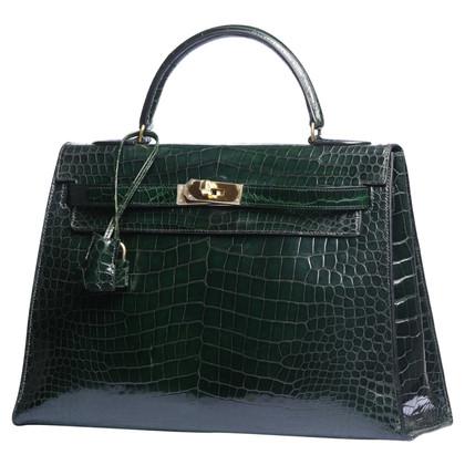 "Hermès ""Kelly Bag 32"" made of crocodile leather"