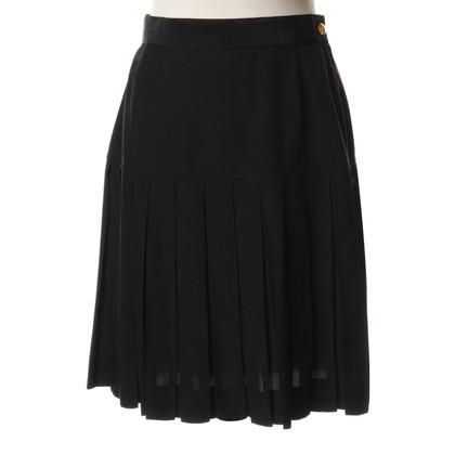 Chanel Geplooide rok in zwart