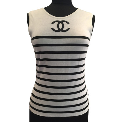 Chanel Knit top with CC logo