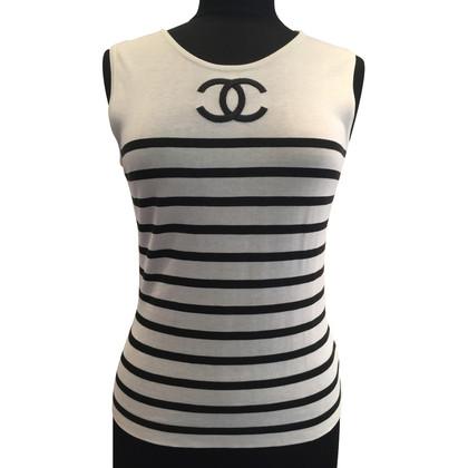 Chanel Gebreide top met CC-logo
