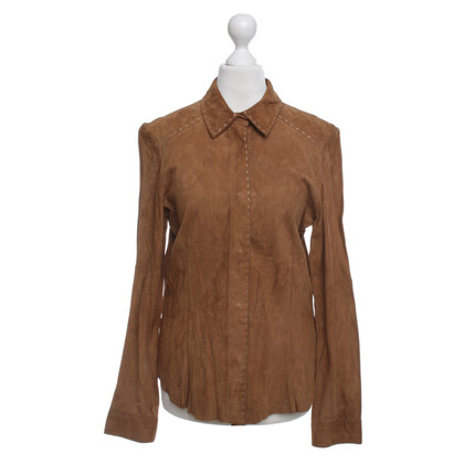 Van Laack Ocher-colored blouse Suede