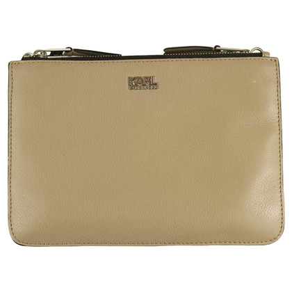 Karl Lagerfeld Clutch in Taupe