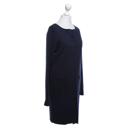 Allude Knitted coat in dark blue