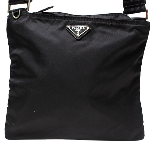 e14069a32166e Prada Shopper aus Canvas in Schwarz - Second Hand Prada Shopper aus ...