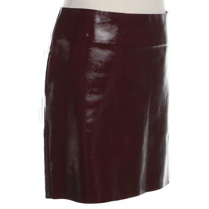 Maje Patent Leather Mini Skirt