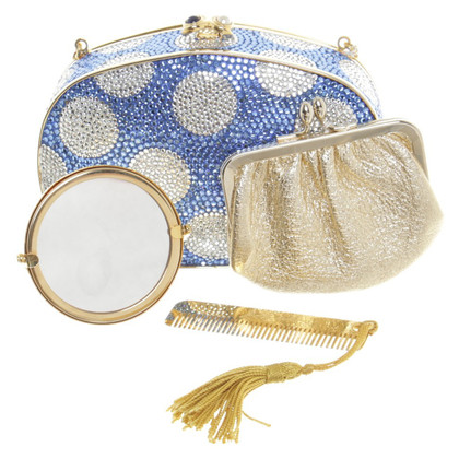 Judith Leiber clutch with semi-precious stones
