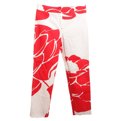 Escada Pants in Red / White