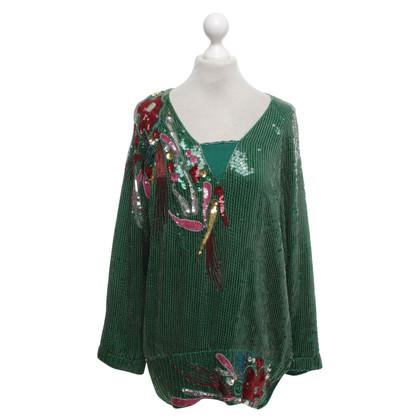 Ella Singh Sequin Top gemaakt van zijde