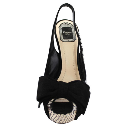 Christian Dior Peep-toes in black and white