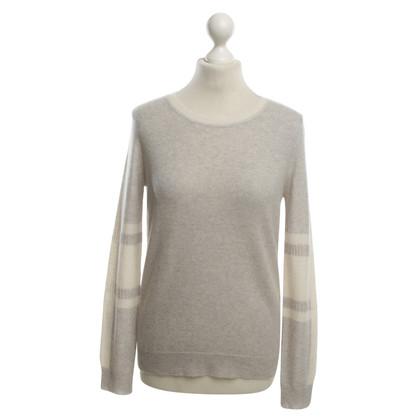 360 Sweater Kaschmirpullover in Grau/Creme