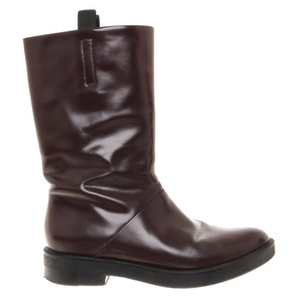 Alexander Wang Leather boots in Bordeaux