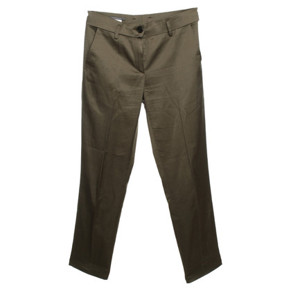 René Lezard Shimmering trousers in khaki